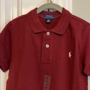 Burgundy short sleeve polo